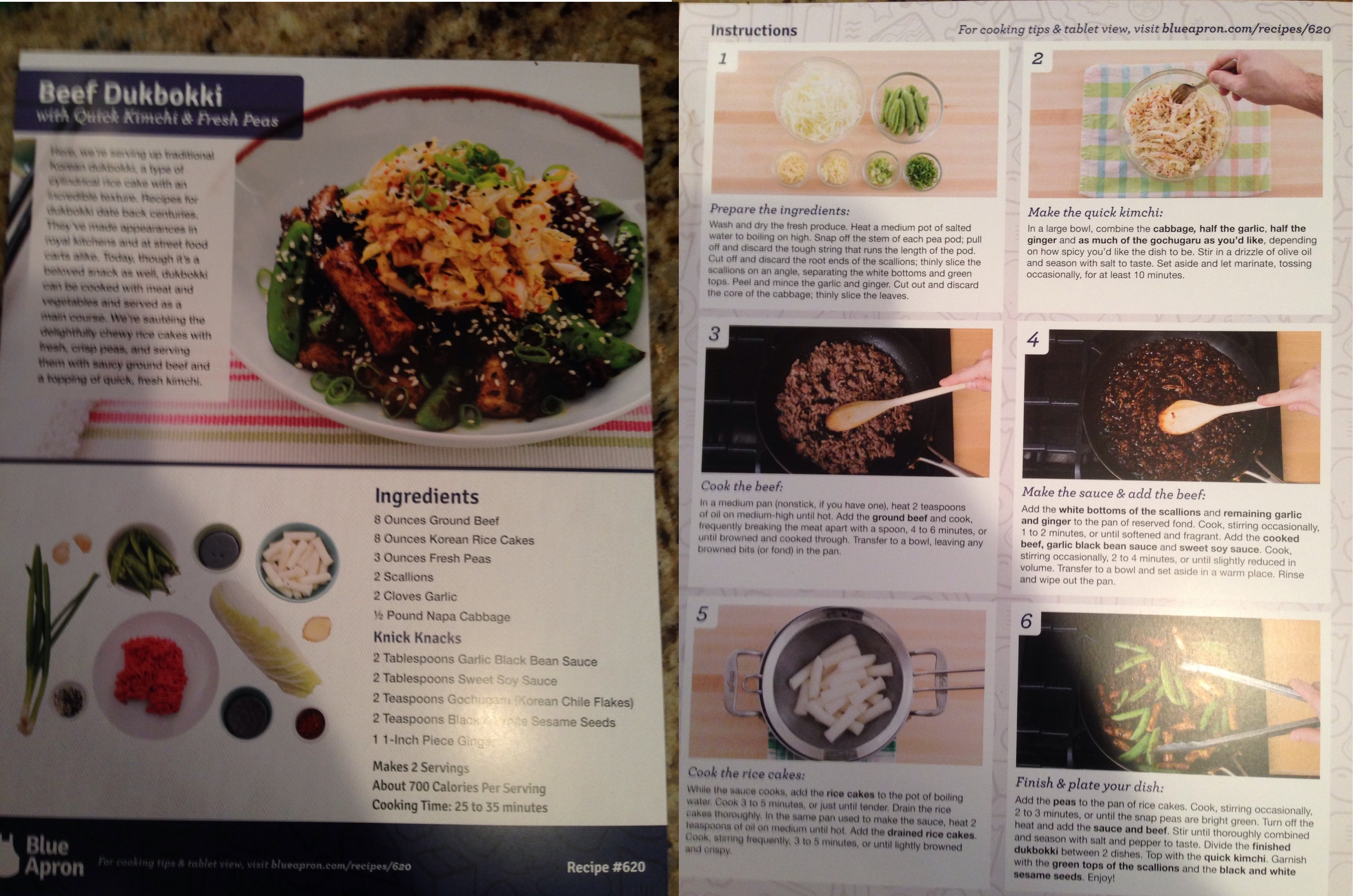 Blue apron for one